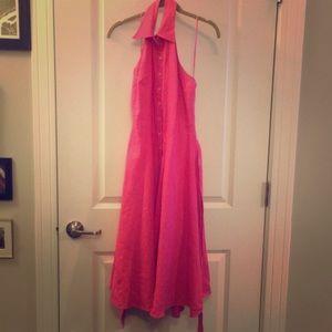 Lauren Ralph Lauren Linen Halter Dress Sz 2